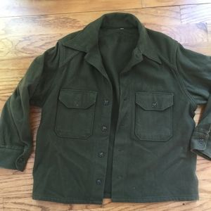 Vintage Green military style jacket no tag
